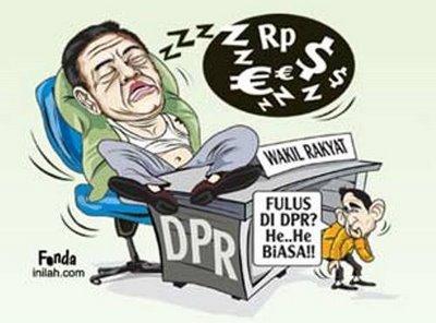 Partai-Partai Pembolos di DPR (2004-2007) Dpr-tidur